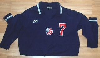 RARE MENS MIZUNO USA OLYMPIC VOLLEYBALL JERSEY SHIRT SIZE M MED VERY