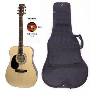 Mentor Acoustic Guitar Pack Bag DVD Accoustic Acostic Acustic Gutar