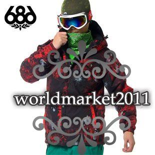 New Mens 686 10K Red Mannual Original Cargo Ski Snowboarding Jackets M