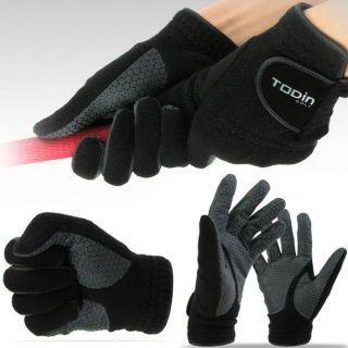 New Mens Winter Golf Gloves Left Right Polapolis Dot Glove Black s M