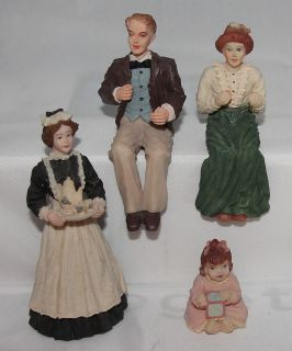 Artisan Flair Dollhouse Figures Maid Baby Man Woman Sitting Minitures