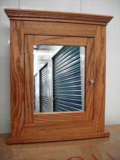 Solid Oak Recessed Medicine Cabinet