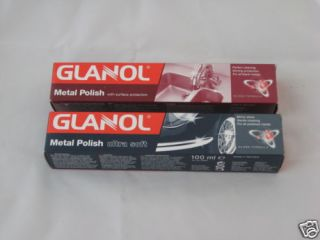 Glanol Set 2 Wenol All Metal Polish Cleaner Silver Stainless Aluminum