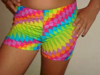 Spandex Volleyball Cheer Gymnastic Dance Colorful Print