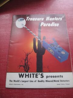 Vintage Whites Metal Detector Catalog Product Line