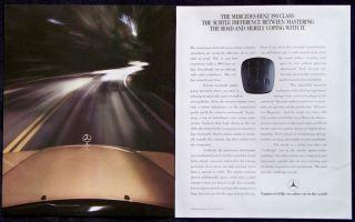 Vintage 1987 Mercedes Benz 190 Class Cars Automobiles Magazine Ad