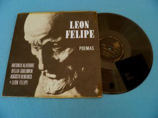Leon Felipe Poemas Poems RARE Mexico 1960 LP