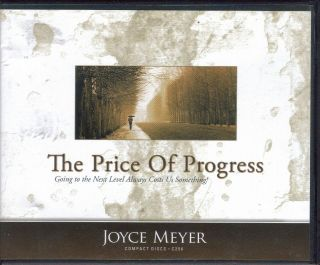 New The Price of Progress Audiobook by Joyce Meyer 4 CD Set