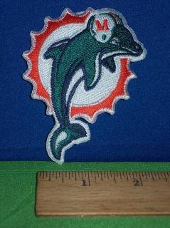 Miami Dolphins NFL AFC Football Iron on Logo 3 5 Patch