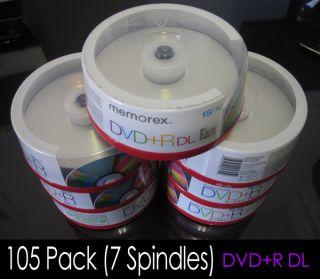 100 PK Memorex Recordable DVD R DL Dual Layer 8x 240min
