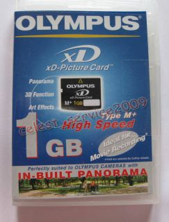 OLYMPUS XD 1GB MEMORY CARD TYPE M XD PICTURE CARD FE 230 FE 240 FE 250