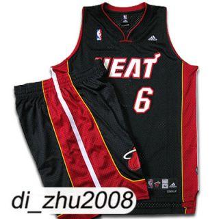Miami Heat Lebron James 6 Swingman NBA Jersey Pants Set