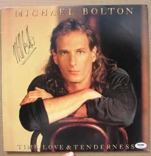 Michael Bolton Signed LP Album Cover Love and Tenderness PSA DNA Auto