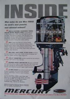 1967 Kiekhaefer Mercury Merc 1100SS Outboard Boat Motor Ad