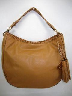 Michael Kors Bennet Bennett Large Tan Leather Shoulder Bag Hobo Purse