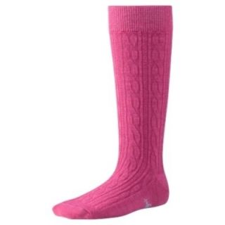 SMARTWOOL Cable Kneehigh Socks Kids PEONY Merino Wool Sz M 15 NWT 932