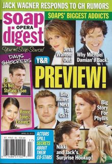 The Young and The Restless Michael Damian April 23 2012 Soap Opera