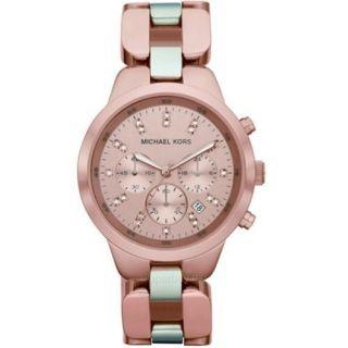 Michael Kors Womens Rose Gold Chronograph Watch Date MK5608