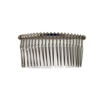 12 Metal Hair Combs 20 Wire Teeth Silver Bridal Prom Supply Accessory