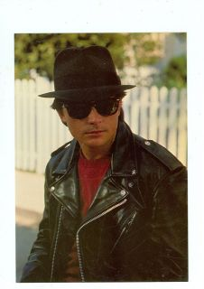 BACK TO THE FUTURE II MICHAEL J FOX IN HIS LEATHER JACKET ON POSTCARD