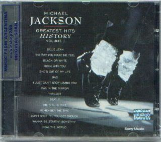 MICHAEL JACKSON, GREATEST HITS   HISTORY VOLUME 1. BEST OF. FACTORY