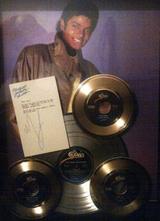 Michael Jackson Gold Record Display Non RIAA