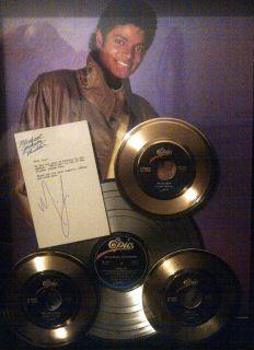 Michael Jackson Gold Record Display Non RIAA