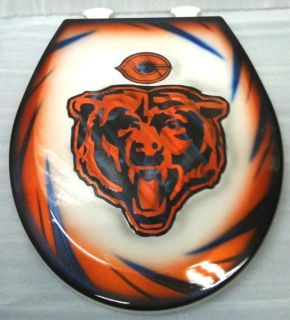 Chicago Bears Toilet Seat Airbrushed Cut Metal NFL