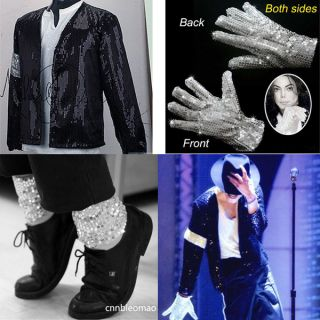 3pcs Michael Jackson MJ Billie Jean Jacket Glove Socks