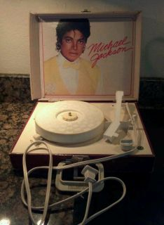 Michael Jackson Vintage Record Player Portable 80S