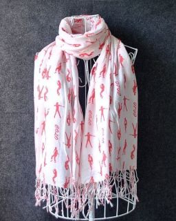 New Michael Joseph Jackson Scarf Gift Red