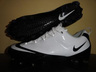 Mens Nike Vapor Carbon Fly Wire Football Cleats Size 15 White Black