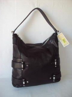 Michael Kors Gibson Large Leather Top Zip Shoulder Bag Black Womens