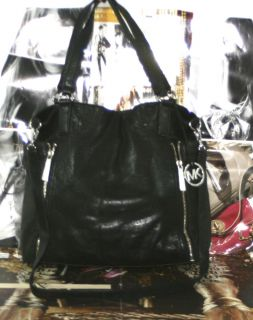 Michael Michael Kors Crosby Large N s Black Leather Shoulder Tote Bag
