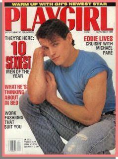 PLAYGIRL September 1989 MICHAEL PARE soap hunk JON BON JOVI Andre