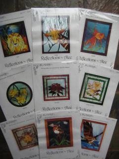 18 Stained Glass Patterns Reflections by Alee NEW A 65 value Close out