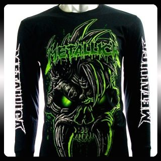 Metallica Biker Music Band LS Long Sleeve T Shirt Sz L Rock Punk Men