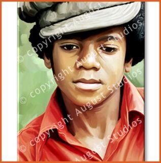 Michael Jackson Original Signed Artwork RARE Print New Canvas Art