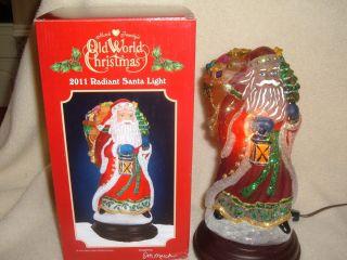 Merck Family Old World Christmas Santa Light Radiant Santa Light Never