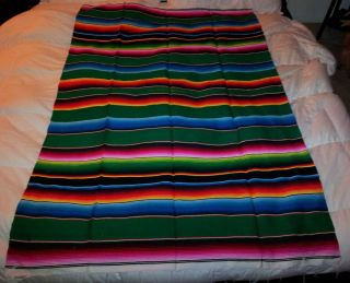 Mexican Sarape Blanket Southwest Style Beautiful Authentic