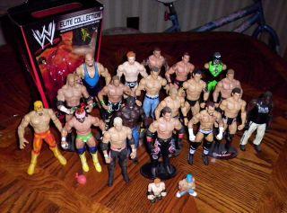 WWE ACTION FIGURE LOT of 19   Mattel/Jakks   CM PUNK, MACHO MAN, CENA