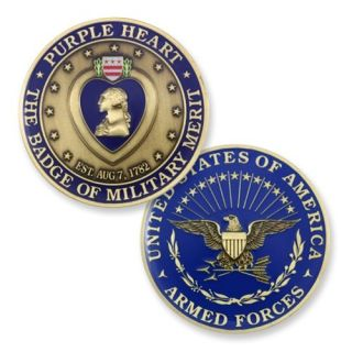 New Purple Heart Challenge Coin Badge of Merit Coin