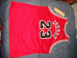 Champion Michael Jordan Chicago Bulls Jersey 48 Red XL x large vtg