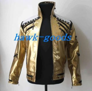 New Michael Jackson Golden Beat It Jacket Professional