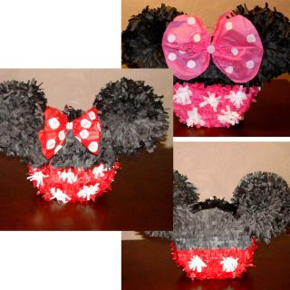 Mickey Mouse Minnie Mouse Birthday Party Pinata Pull String or Hit You
