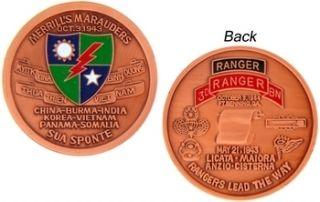 Army Merrills Marauders 3rd Ranger Challenge Coin