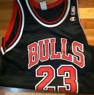 Champion Jersey Chicago Bulls Michael Jordan 23 Black
