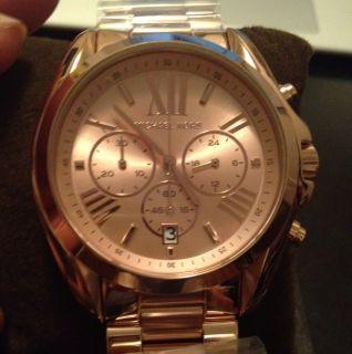 BRAND NEW Michael Kors MK5503 Bradshaw Rose Gold Watch FREE COACH