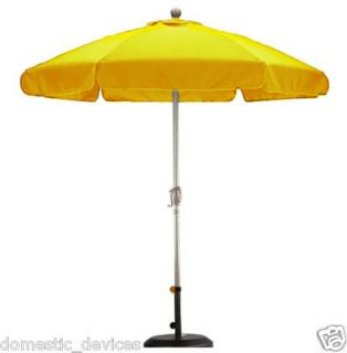Fiberglass Rib Patio Deck Valance Umbrella Yellow