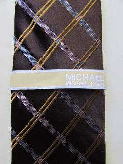 Mens Silk Tie Michael Kors Brown $59 50